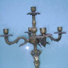 Antigüedades: CANDELABRO ANTIGUO PARA 5 VELAS - 35 CM DE ALTO X 30 CM DE DIAMETRO. Lote 29285265