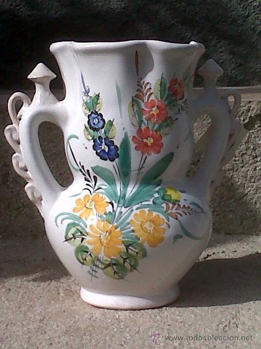 PRECIOSISIMA JARRA DE NOVIA PINTADA A MANO. CERAMICA LORQUINA DE LARIO (Antigüedades - Porcelanas y Cerámicas - Lario)