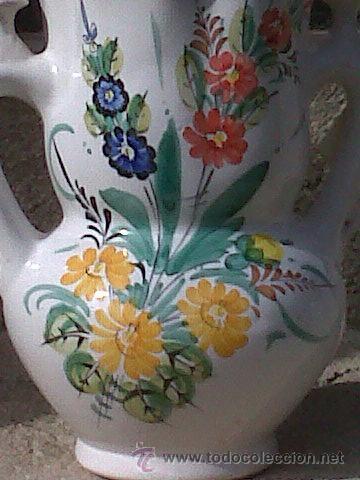 Antigüedades: PRECIOSISIMA JARRA DE NOVIA PINTADA A MANO. CERAMICA LORQUINA DE LARIO - Foto 2 - 29271539