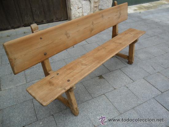 banco rústico en madera de pino antiguo - Comprar Sillas Antiguas en ...