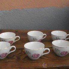 Antigüedades: ANTIGUAS Y PRECIOSAS 6 TAZAS DE CAFE SAN CLAUDIO. Lote 29281348
