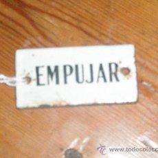 Antigüedades: PEQUEÑO INDICADOR DE PORCELANA Y CHAPA. Lote 29288061