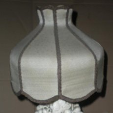 Antigüedades: LAMPARA PORCELANA MANISES EXTRAORDINARIA. Lote 29296360