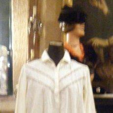 Antiquitäten - Camisón de algodón encaje de bolillos y bordado - 29297238