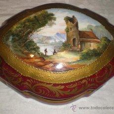 Antigüedades: GRAN CAJA EN PORCELANA DE LIMOGES. Lote 29308208