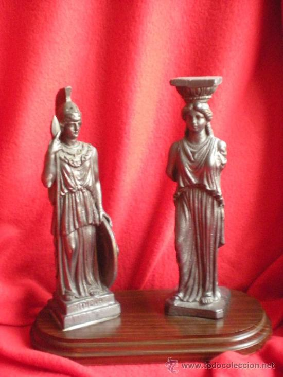 2 FIGURAS GRIEGAS (Antigüedades - Hogar y Decoración - Figuras Antiguas)