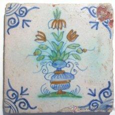 Antigüedades: MUY ANTIGUA BALDOSA DE DELFT XVIII. Lote 29327496