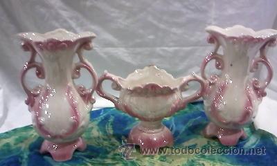 Antigüedades: Precioso juego de 3 piezas de jarrones en cerámica china - Foto 4 - 29337857
