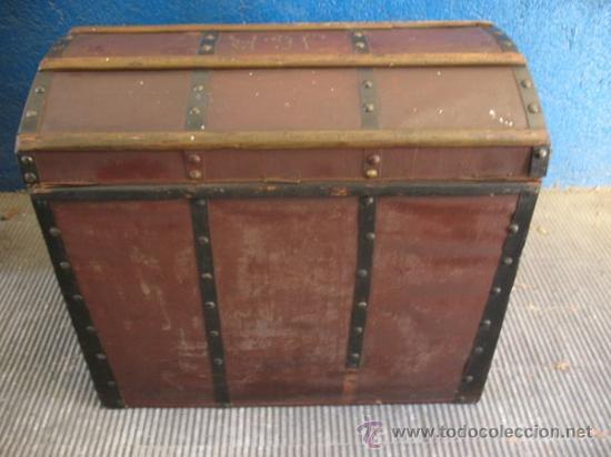 Antigüedades: ANTIQUISIMO BAUL DE TRANSPORTE DE ROPA - Foto 8 - 29336371