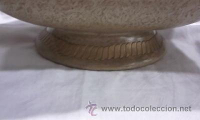 Antigüedades: ORIGINAL CENTRO DE MESA RECTANGULAR CON DIBUJOS EN RELIEVE CON ASAS - Foto 3 - 29349932