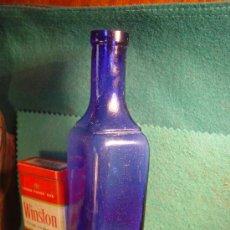 Antigüedades: HEMOGLOBINE - DESCHIENS - ANTIGUO FRASCO AZUL COBALTO - FARMACIA - . Lote 29350211