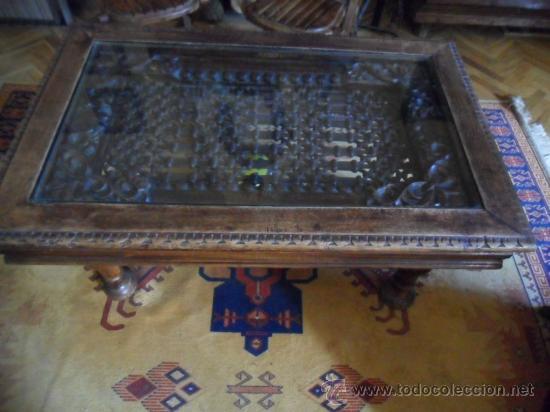 Mesa de centro con preciosa reja de hierro de f comprar for Mesas de centro antiguas