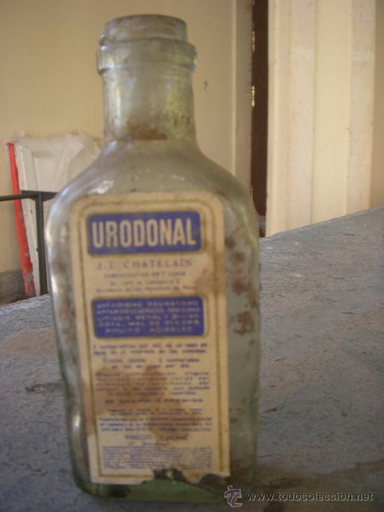 FRASCO DE CRISTAL (Antigüedades - Cristal y Vidrio - Farmacia )