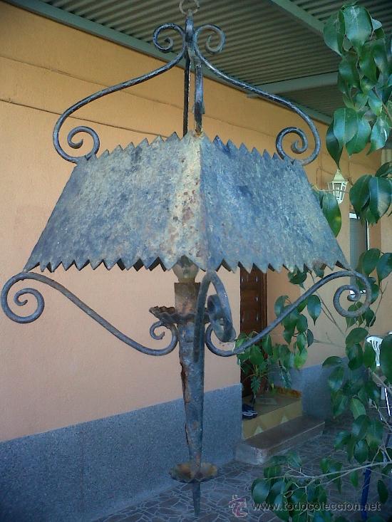 Antigüedades: FAROL DE FORJA. - Foto 4 - 29366127