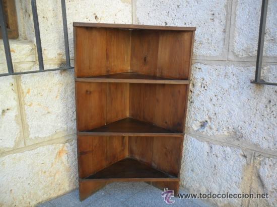 Rinconera con baldas en madera de pino maciza a comprar - Rinconeras de madera ...