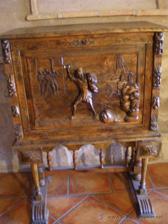 BARGUEÑO ESTILO RENACIMIENTO (Antigüedades - Muebles Antiguos - Bargueños Antiguos)