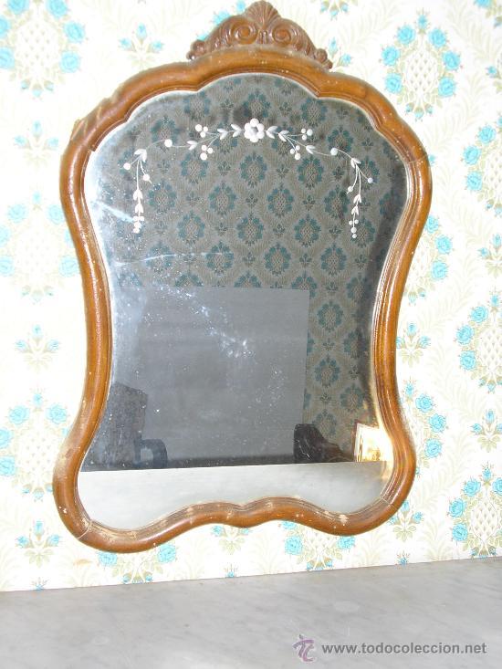 Precioso espejo de formas cristal con dibujo comprar - Formas de espejos ...