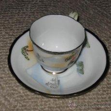 Antigüedades: PLATO Y TAZA DE CAFE, CON VISTA DEL MONTE FUJI, JAPÓN OCUPADO (VER FOTOS ADICIONALES) 1945-1952. Lote 29382589