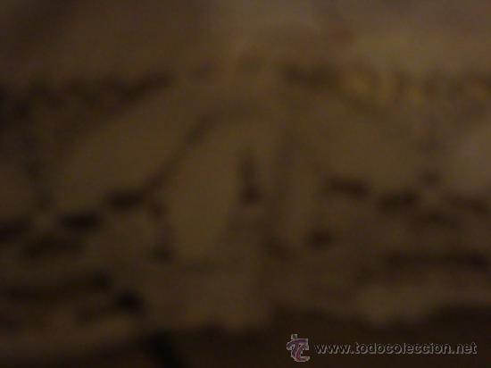 Antigüedades: precioso mantel bordado a mano con fina puntilla, 102 de largo mas la puntilla - Foto 3 - 29367474