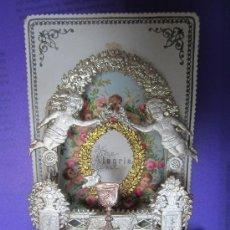 Antigüedades - diorama - estampa capilla con profundidad de carton fino - alegria - muy antigua ¿ 1900.? - 29370247