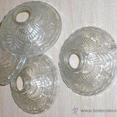 Antigüedades: CUTRO ADORNOS DE CRISTAL PARA LAMPARA . Lote 29394588