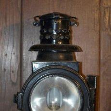Antigüedades: FAROL FERROVIARIO DE TREN. 1890 - 1920. ALEMANIA. COMPLETO ORIGINAL.. Lote 29404459