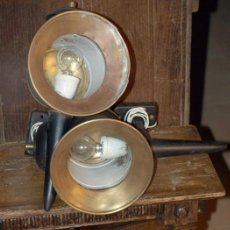 Antiquitäten - Farol. Pareja de faroles de carruaje. Electrificados. C 1940 - 29404573