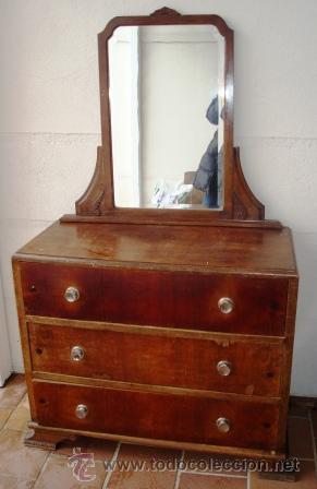 C moda o coqueta con espejo art deco antigua comprar - Comodas antiguas restauradas fotos ...