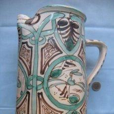 Antigüedades: BELLA JARRA DE CERÁMICA PINTADA A MANO FIRMADA PUNTER 32. Lote 29411218