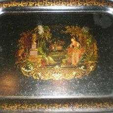 Antigüedades: ANTIGUA BANDEJA DE METAL. Lote 29422108