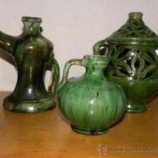 Antigüedades: PERULA DE JUGUETE ,CANDIL ,INCENSARIO ( ALMARLA ) CERAMICA UBEDA ( JAÉN). . Lote 122809356