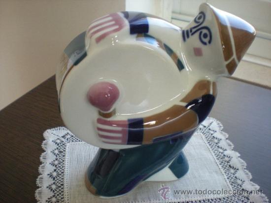 ANTIGUO HOMBRE DEL BOMBO (17,5 CM) DE SARGADELOS. EN . (Antigüedades - Porcelanas y Cerámicas - Sargadelos)