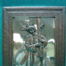 Antigüedades: CRISTO DEL GRAN PODER EN LAMINA ANTIGUA DE COBRE. SEVILLA. Lote 29429429