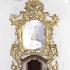 Antigüedades: IMPORTANTE PEQUEÑA CÓMODA CATALANA DE PUBILLA CON ESPEJO, SIGLO XVIII. EN RAIZ DE NOGAL, VER.. Lote 29447319
