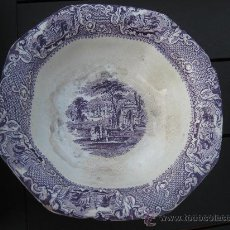 Antigüedades: CA. 1870. FRUTERO SAN JUAN AZNALFARACHE. EPOCA RAMON RODRÍGUEZ. COLOR LILA. Lote 29450036