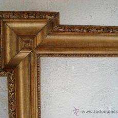 Antigüedades: MARCO PLATA CORLADA. S XIX - CUADRO -ESPEJO. Lote 29451306