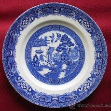 Antigüedades: DECORATIVO PLATO EN PORCELANA INGLESA WILLOW RIDGWAY. NORTH STAFFORDSHIRE. POTTERY Cº.. Lote 29477953