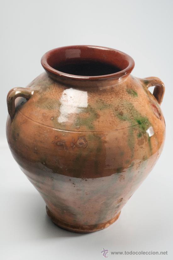 Cer mica antigua tinaja de barro esmaltada comprar for Utensilios del hogar