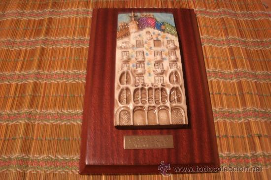 Antigüedades: Cuadro inspirado en la casa Batlló de Barcelona / GAUDÍ - TIPO ESCULTURA FIRMADO DE AUTOR - Foto 13 - 29563878