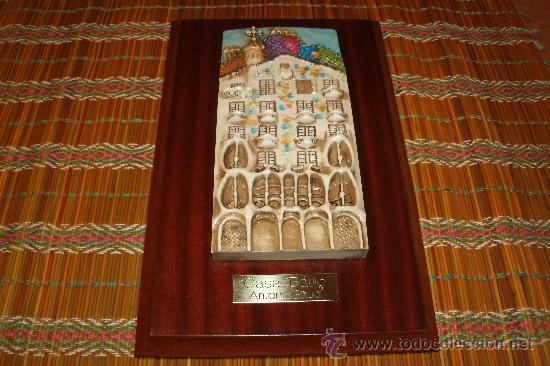Antigüedades: Cuadro inspirado en la casa Batlló de Barcelona / GAUDÍ - TIPO ESCULTURA FIRMADO DE AUTOR - Foto 12 - 29563878