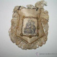 Antigüedades: ANTIGUO ESCAPULARIO DE TELA.. Lote 29545073