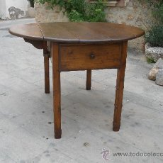 Antigüedades: MESA DE ALAS ANTIGUA - MADERA DE PINO - RESTAURADA - SXIX. Lote 206821111