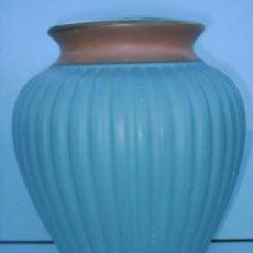 Antigüedades: PIE DE LAMPARA DE PORCELANA - 33 CM DE ALTO X 25 CM DE DIAMETRO. Lote 29566751