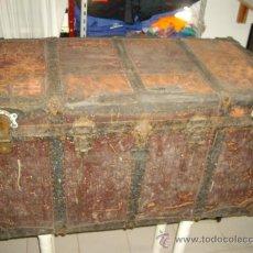 Antigüedades: ANTIGUO BAUL DE PRINCIPIOS DE 1900 VER FOTOS . Lote 29574250