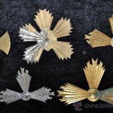Antigüedades: LOTE DE 5 CRUCES PARA IMAGENES EN BRONCE Y METAL. PRINCIPIOS DEL SIGLO XX. Lote 29718637