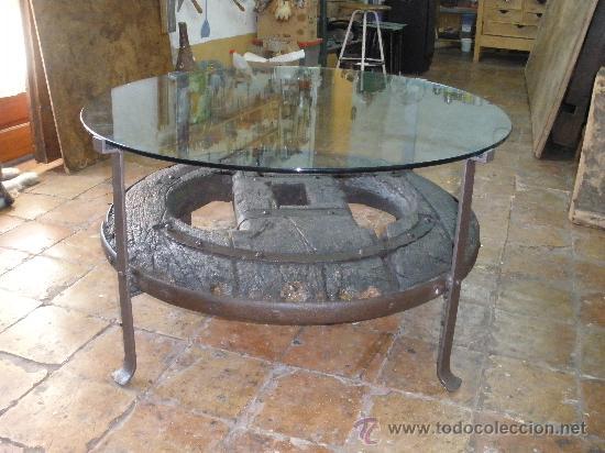 MESA RUEDA GALLEGA S.XVIII. (Antigüedades - Muebles Antiguos - Mesas Antiguas)