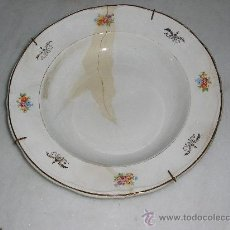 Antigüedades: PRECIOSO PLATO DECORADO CON FLORECITAS - SAN CLAUDIO - OVIEDO - . Lote 29585656