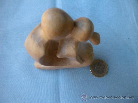 Antigüedades: BONITA ESCULTURA EN MADERA TALLADA - Foto 3 - 29605866
