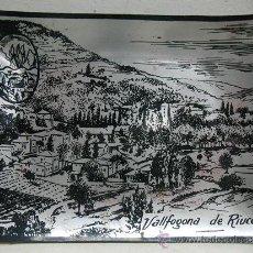 Antigüedades: BANDEJA DE 10CM CON LA FOTO DE VALLFOGONA DE RIUCORP. Lote 29596042