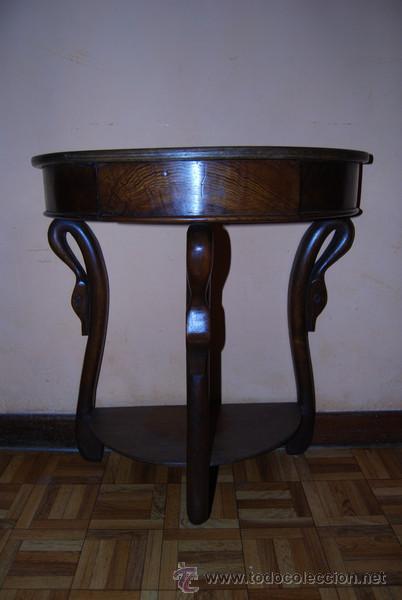 Antigua mesa de madera de casta o con caj n p comprar for Baneras antiguas con patas baratas
